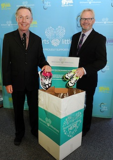 Little Gym CEO Bob Bingham and Soles4Souls Chief Development Officer Keith Woodley