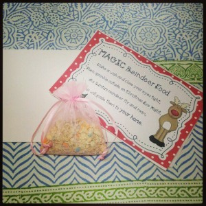 Reindeer Food Card