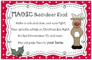 Reindeer Food Printable