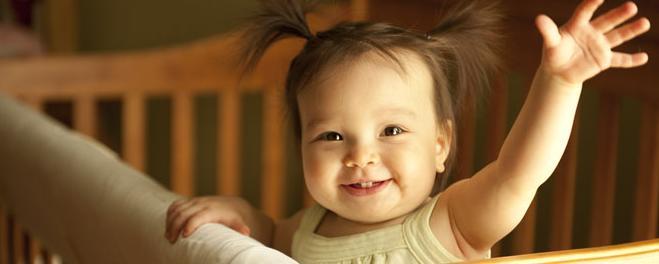 Baby in Crib