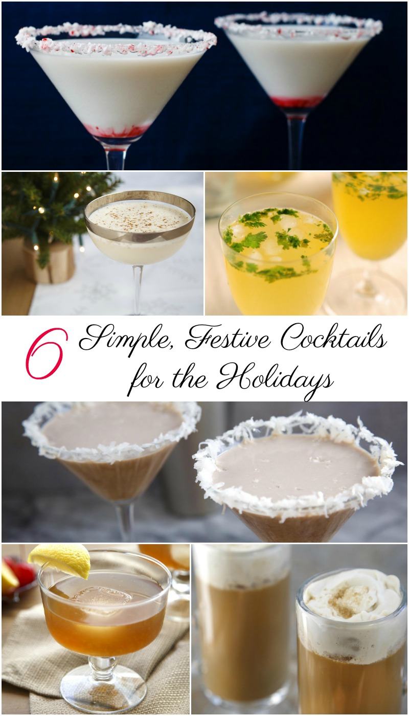 Simple, Festive Cocktails for the Holidays
