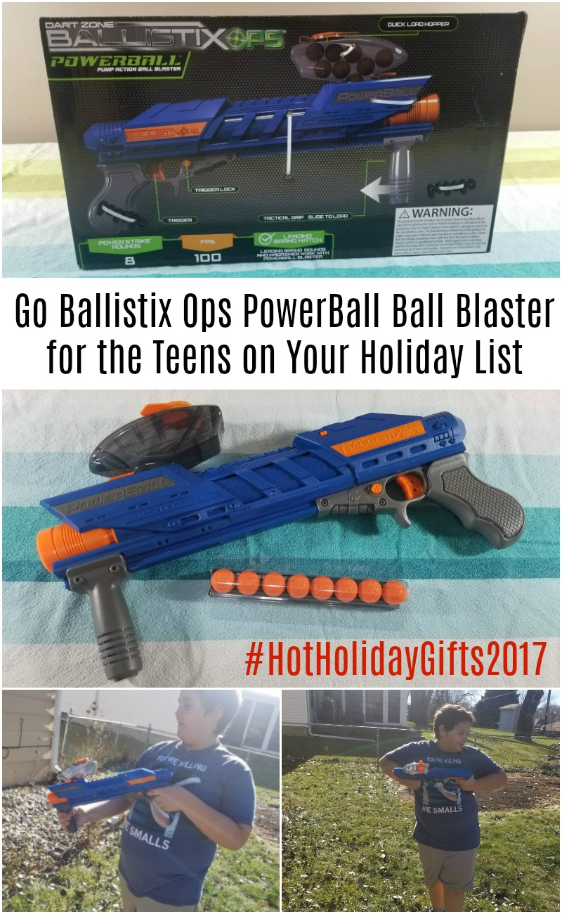 Go Ballistix Ops PowerBall Ball Blaster for the Teens on Your Holiday List #HotHolidayGifts2017