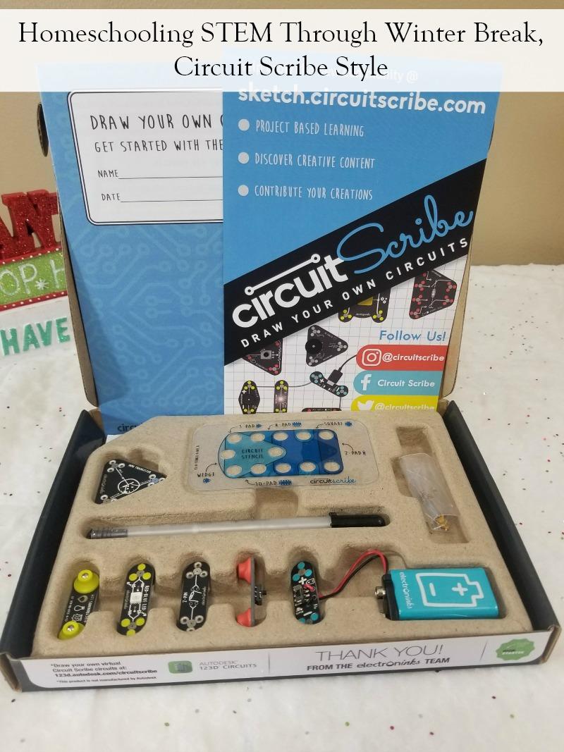 Homeschooling STEM Through Winter Break, Circuit Scribe Style #HotHolidayGifts2017