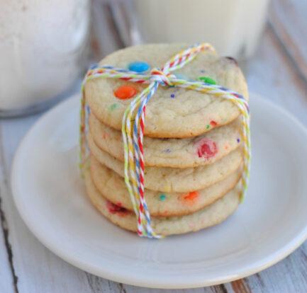 M&M Funfetti Cookie Gift Jar