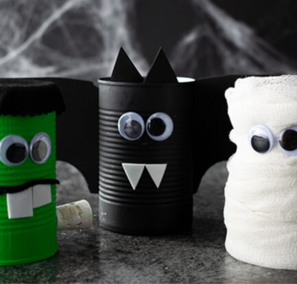 DIY Halloween Spooky Cans