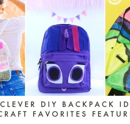Clever DIY Backpacks for Kids & Adults