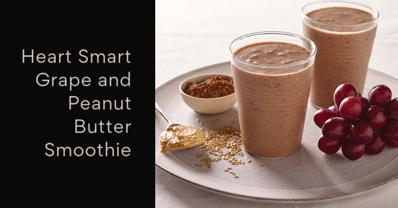 Heart Smart Grape and Peanut Butter Smoothie