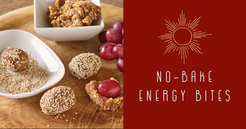 No-Bake Grape Energy Bites