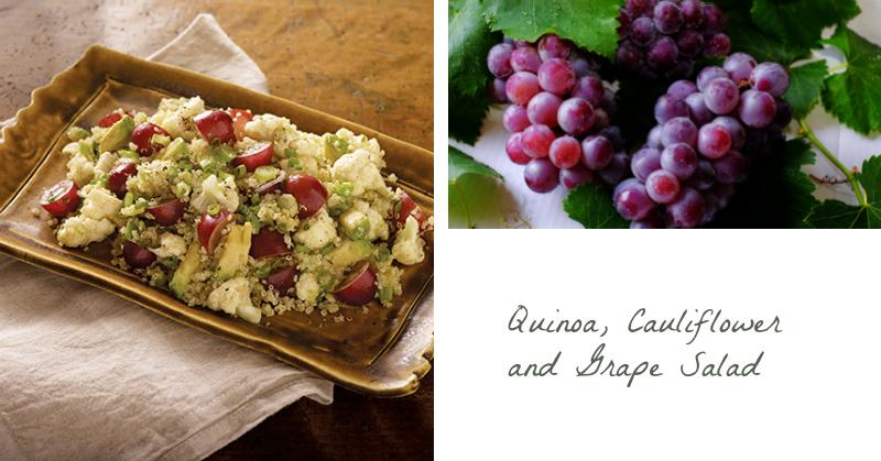 Quinoa, Cauliflower and Grape Salad