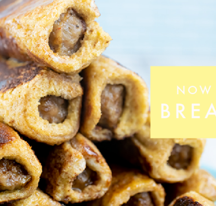 Twisting Up Breakfast with Sausage French Toast Roll-Ups Recipe