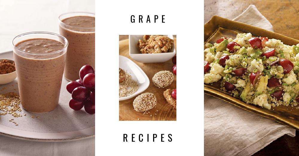 Grape Recipes: No-Bake Energy Bites, Smoothies and Salads